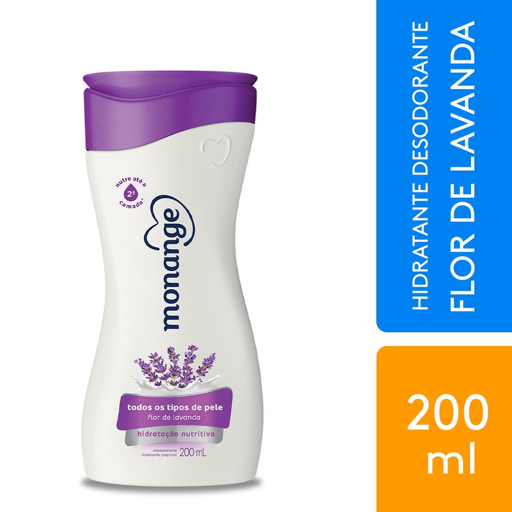 Hidratante Desodorante Monange Hidratação Nutritiva Flor de Lavanda 200ml