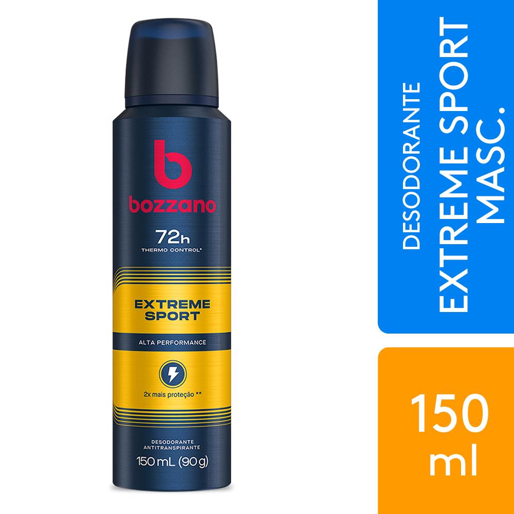 Desodorante Aerossol Antitranspirante Masculino Bozzano Extreme Sport 150ml